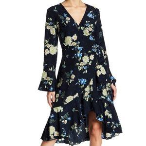 Lucy Paris Alexa Floral Faux Wrap Dress